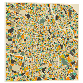 Cuadro de PVC  Vienna Map - Jazzberry Blue