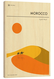 Madera  Morocco Travel Poster - Jazzberry Blue