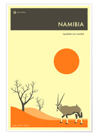 Póster  Namibia Travel Poster - Jazzberry Blue