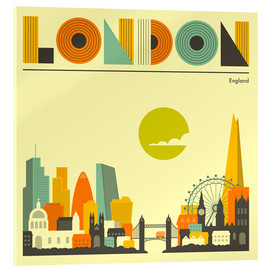 Cuadro de metacrilato  Skyline de Londres - Jazzberry Blue
