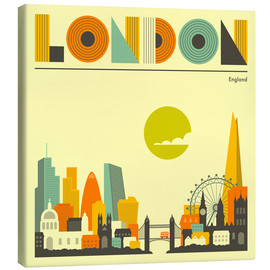 Lienzo  Skyline de Londres - Jazzberry Blue