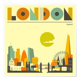 Póster  Skyline de Londres - Jazzberry Blue