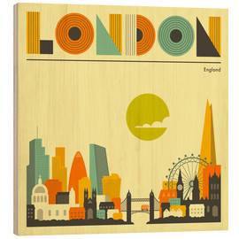 Madera  London Skyline - Jazzberry Blue