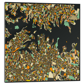 Cuadro de metacrilato  Sydney Map - Jazzberry Blue
