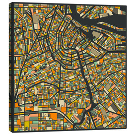 Lienzo  Amsterdam Map - Jazzberry Blue