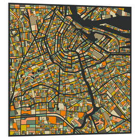 Cuadro de PVC  Amsterdam Map - Jazzberry Blue