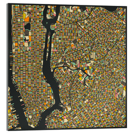 Cuadro de metacrilato  New York Map - Jazzberry Blue