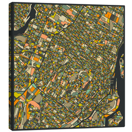 Lienzo  Montreal Map - Jazzberry Blue