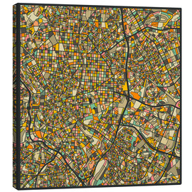 Lienzo  Mapa de Madrid - Jazzberry Blue