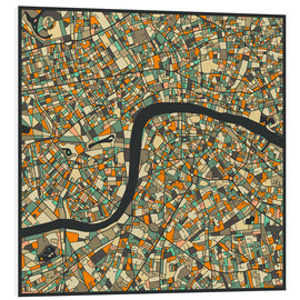 Cuadro de PVC  London Map - Jazzberry Blue
