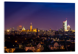 Cuadro de metacrilato  Leipzig Skyline at night - Martin Wasilewski
