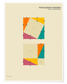 Póster  Pythagorean Theorem - Jazzberry Blue