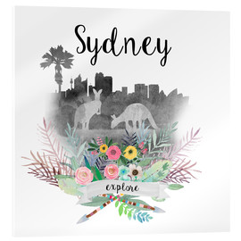 Cuadro de metacrilato  Sydney Collage - GreenNest
