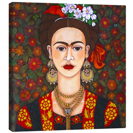 Lienzo  Frida with butterflies - Madalena Lobao-Tello