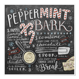 Póster  Peppermint Bark Recipe - Lily & Val
