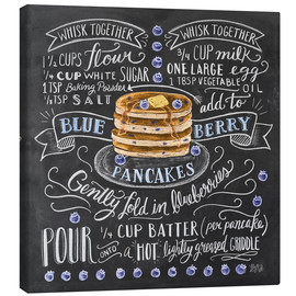 Lienzo  Blueberry pancakes recipe - Lily & Val