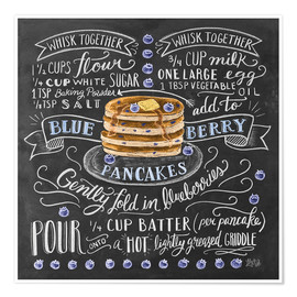 Póster  Blueberry pancakes recipe - Lily & Val