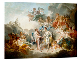 Cuadro de metacrilato  Cupid and Psyche celebrate wedding - François Boucher