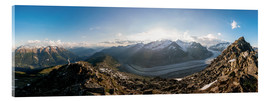 Cuadro de metacrilato  360 degree panorama from Bettmerhorn with Aletsch Glacier, Valais, Switzer - Peter Wey