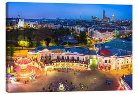 Lienzo  View from the Vienna Giant Ferris Wheel on the Prater - Benjamin Butschell