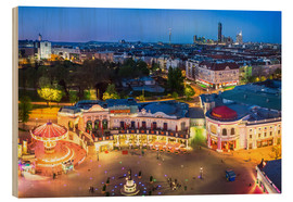 Cuadro de madera  View from the Vienna Giant Ferris Wheel on the Prater - Benjamin Butschell