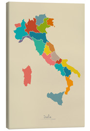 Lienzo  Modern map of Italy Artwork Design - Ingo Menhard