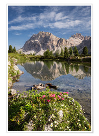 Póster Alps - Dolomites - Summer Lake