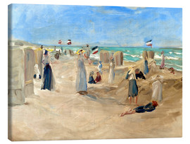 Lienzo  On the beach in Noordwijk - Max Liebermann