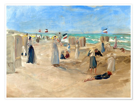 Póster  On the beach in Noordwijk - Max Liebermann