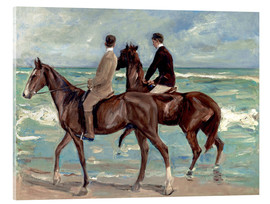 Metacrilato  Two riders on the beach - Max Liebermann
