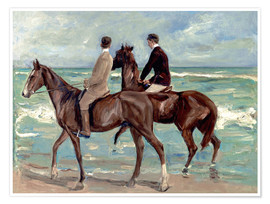 Póster  Two riders on the beach - Max Liebermann