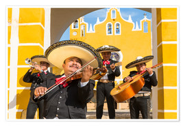 Póster  Mexican Mariachi musicians with sombrero, Mexico - Matteo Colombo