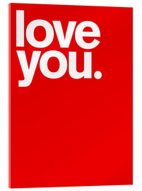 Metacrilato  Love you - THE USUAL DESIGNERS
