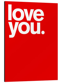 Cuadro de aluminio  Love you - THE USUAL DESIGNERS