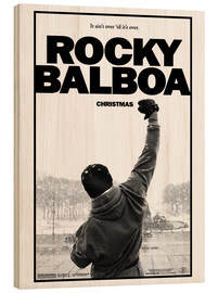 Cuadro de madera  Rocky Balboa - Entertainment Collection