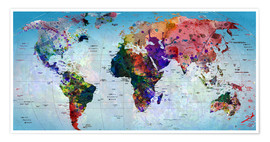 Póster Map of the world