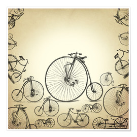 Póster Bicycles