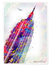 Póster  Empire State Building - Mark Ashkenazi