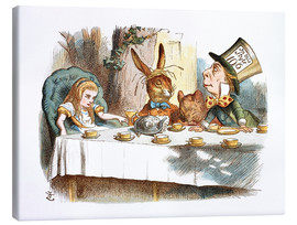 Lienzo  Alice in Kaffeeklatsch - John Tenniel