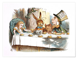 Póster  Alice in Kaffeeklatsch - John Tenniel