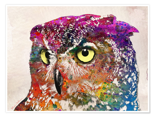 Póster owl drowing