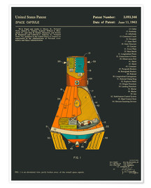 Jazzberry Blue - Space Capsule Patent (1963)