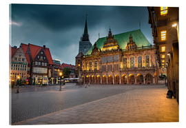 Cuadro de metacrilato  Bremen Market Square with City Hall - Rainer Ganske