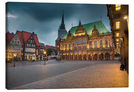 Lienzo  Bremen Market Square with City Hall - Rainer Ganske