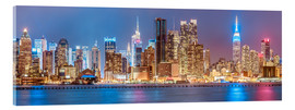 Cuadro de metacrilato  New York City Neon Colors Skyline - Sascha Kilmer