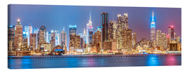Lienzo  New York City Neon Colors Skyline - Sascha Kilmer