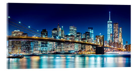 Cuadro de metacrilato  New York illuminated Skyline - Sascha Kilmer