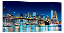 Lienzo  New York illuminated Skyline - Sascha Kilmer