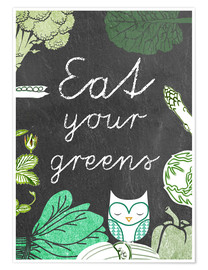 Póster Eat your greens