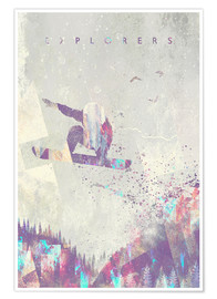 Póster  explorers snowboard - HappyMelvin
